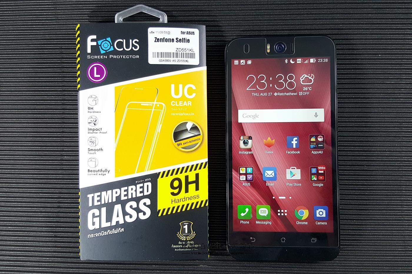 ฟิล์มกระจกนิรภัย FOCUS 9H (Asus Zenfone Selfie)