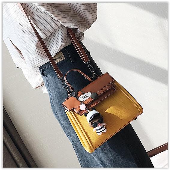 (พร้อมส่ง)กระเป๋าแฟชั่น สีเหลือง