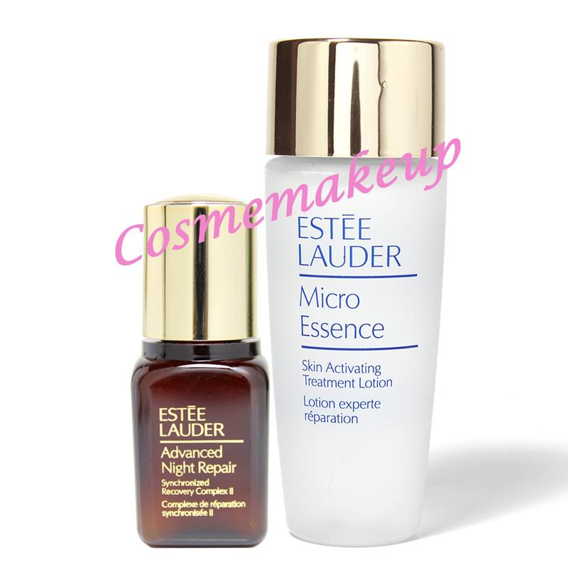 (แพ็คคู่ ซื้อ2 คู่ส่งฟรี ) ESTEE LAUDER ADVANCED NIGHT REPAIR SYNCHRONIZED RECOVERY COMPLEX II 7 ml. + ESTEE Lauder Micro Essence Skin Activating Treatment Lotionขนาดทดลอง30 ml.