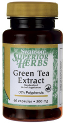 Swanson Vitamins - Green Tea Extract 500 mg 60 Caps