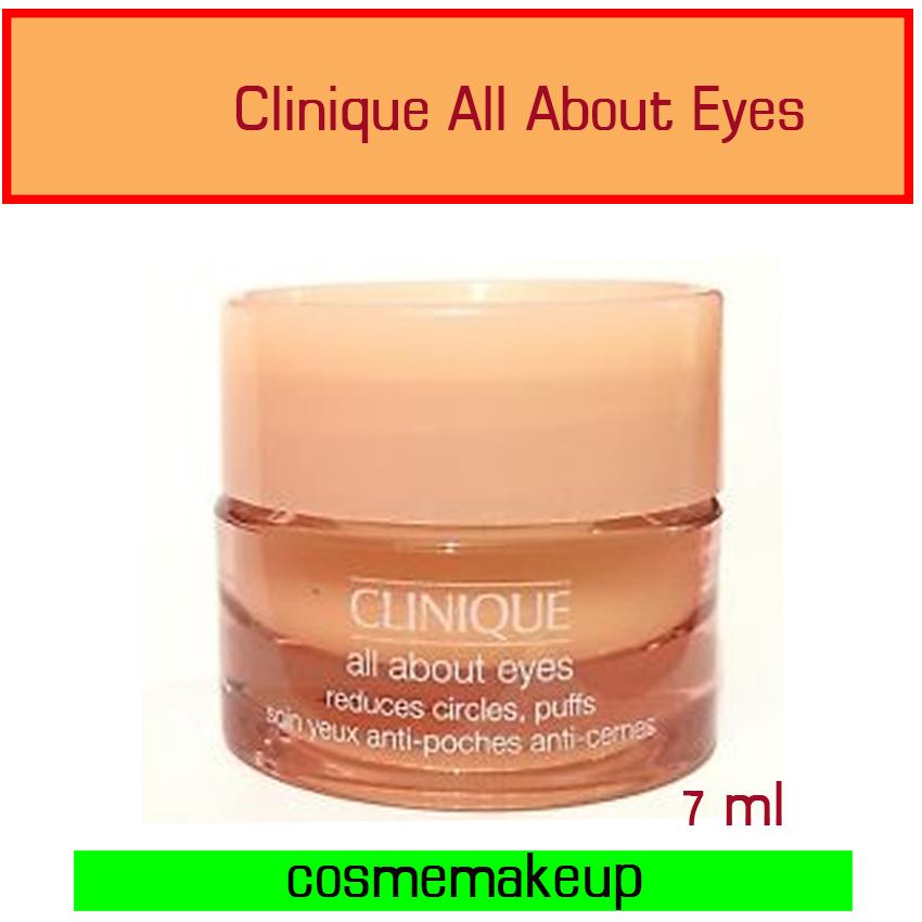 ลด57% คลีนิกข์ Clinique All About Eyes Reduces Circles, Puffs7ml. (ไม่มีกล่อง) ครีมเจลที่อุดมด้วยความชุ่มชื้นทำให้ผิวบริเวณรอบดวงตาสบายและผ่อนคลาย ลดรอยคล้ำและริ้วรอย ลด44%