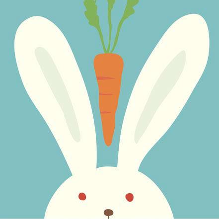 """LB028 ภาพระบายสีตามตัวเลข """"กระต่าย"""""""