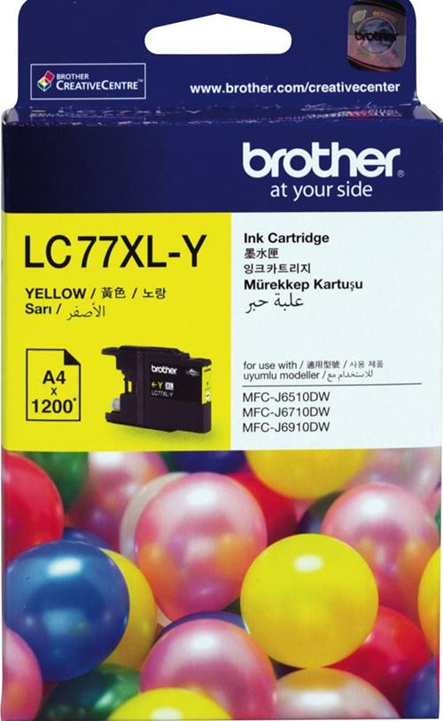 BROTHER INK CARTRIDGE LC-77XLY สีเหลือง