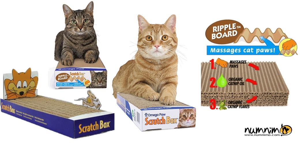 Omega Paw Ripple Board ลูกฟูกลับเล็บแมว เคลือบแคทนิป
