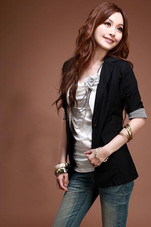 EX เสื้อคลุมแฟชั่นคอปกแยกสามส่วนผ้าเนื้อหนานิ่ม