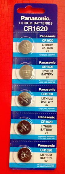 ถ่านกระดุม Panasonic CR1620 จำนวน 5 ก้อน/แผง