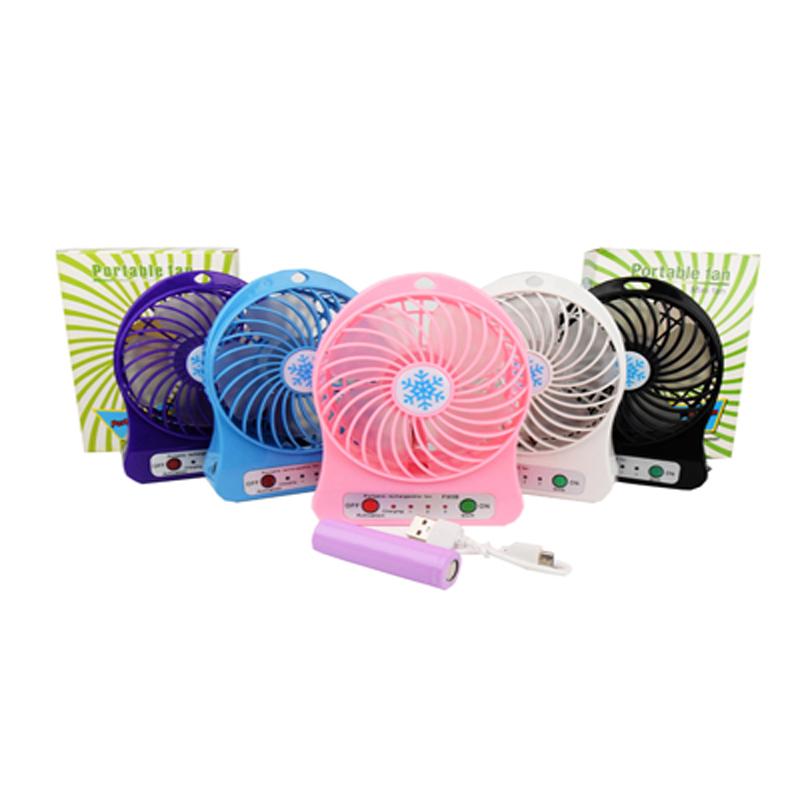 mini portable fan พัดลมพร้อมใช้ขนาดพกพา[แถมถ่านชาร์จในกล่อง]