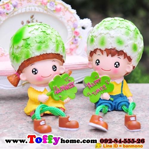 ตุ๊กตาเรซิ่นห้อยขาสวนผักที่รักตกแต่งบ้านน่ารักๆด้วยตุ๊กตา ขนาด 4*10 cm.