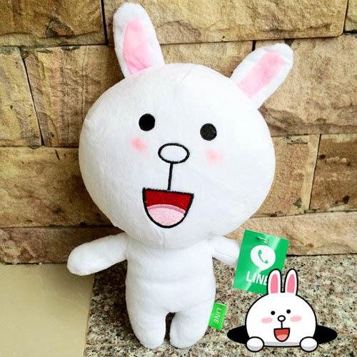 ตุ๊กตาline cony หน้ายิ้ม ขนาด 45 cm.