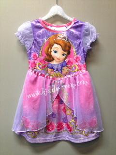 Sofia---ชุดกระโปรงผ้ามัน เจ้าหญิงโซเฟีย สีม่วงอ่อนๆ น่ารักมากๆค่ะ size 2t, 4t