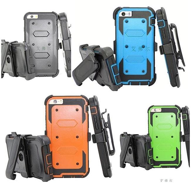 (002-145)เคสมือถือไอโฟน case iphone 5/5s/SE เคสนิ่ม+เกราะพลาสติก+ที่เหน็บเอว สไตล์กันกระทก