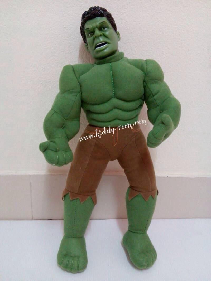 ตุ๊กตา Superhero - Hulk ช่วงตัวนิ่ม หัวแข็งผลิตจากพลาสติก PVC วัสดุอย่างดี สูงประมาณ 17 นิ้ว งานคุณภาพ ถูกลิขสิทธิ์จาก Hasbro (Marvel) ตัวใหญ่ เล่นสนุก กอดถือถนัดมือ เป็นของขวัญ ของฝากถูกใจน้องๆ แน่นอนจ้า