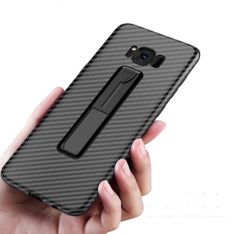 (705-003)เคสมือถือซัมซุง Case Samsung Galaxy Note8 เคสนิ่มลายเคฟล่ามีขาตั้งสุดเทห์แฟชั่น