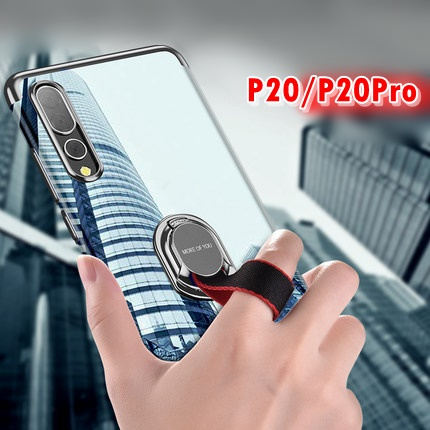 (718-003)เคสโทรศัพท์มือถือ Case Huawei P20 Pro เคสนิ่มใสแฟชั่นด้านหลังสายคล้องมือสีสวยๆ