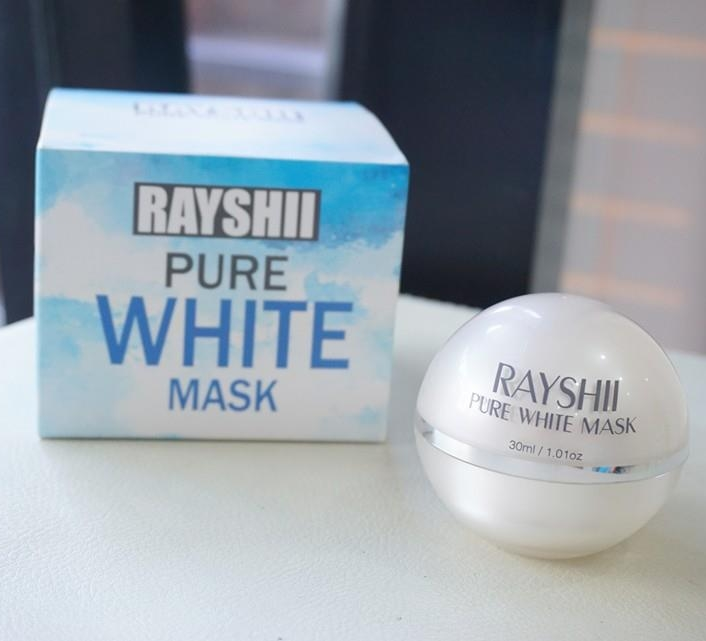 Rayshi Pure White Mask ที่สุดแห่ง sleeping mask ครีมมาร์คหน้าขาวใสดูแลผิวอย่างล้ำลึกช่วงเวลาพักผ่อน