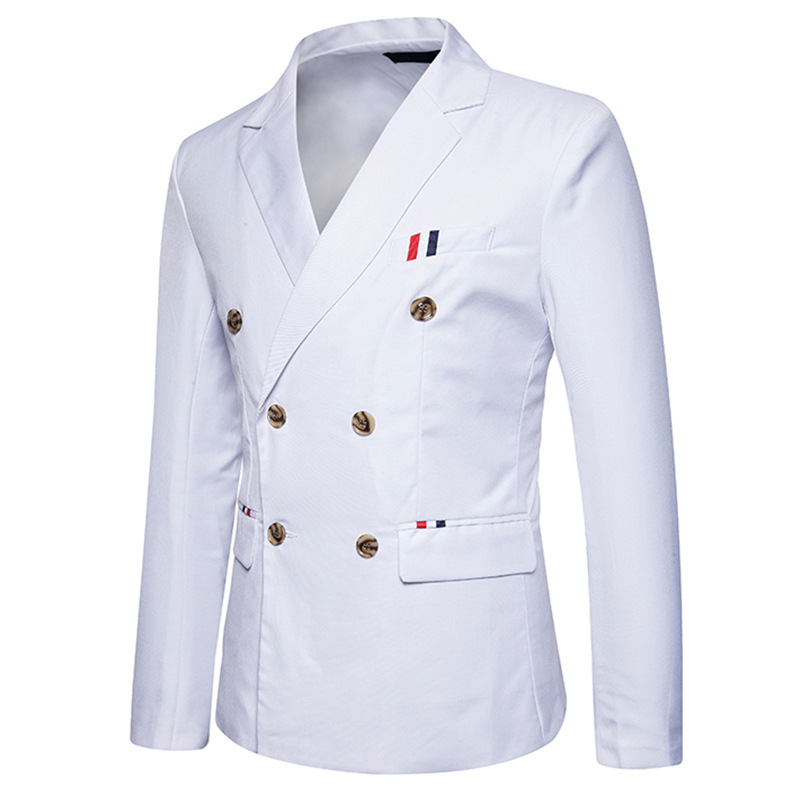 เสื้อสูท เกรดพรีเมี่ยม กระดุม 6 เม็ด ขาว