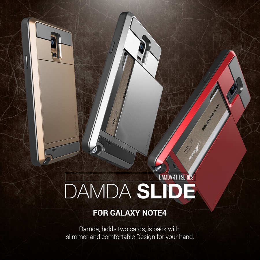 VERUS : Damda Slide Slim & Hard Back Cover Case For Galaxy Note 4