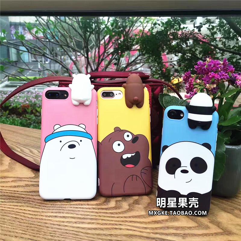 (513-077)เคสมือถือไอโฟน Case iPhone 7 Plus เคสนิ่มหมี 3D สามสไตล์
