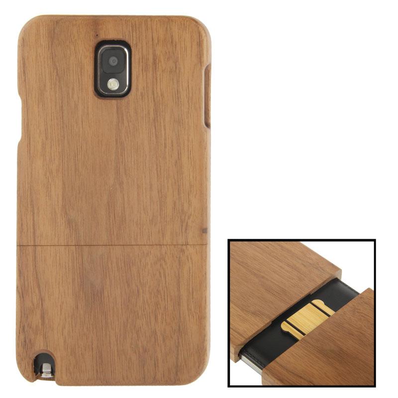 Black Pear Wood Material Case เคส Samsung Galaxy Note 3 (III) / N9000 ซัมซุง กาแล็คซี่ โน๊ต 3