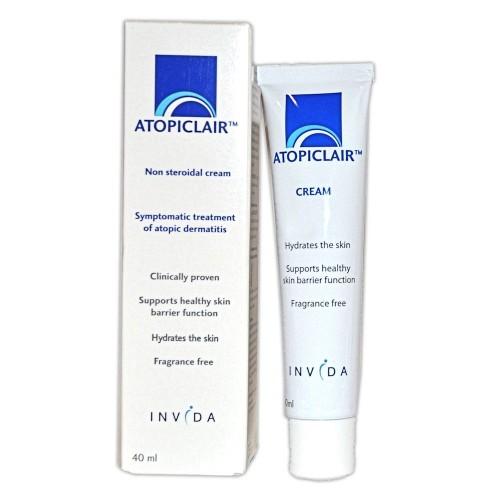 Atopiclair Cream 40 Ml.อโทปิแคร์ รักษาผิวติดสเตียรอยด์ ภูมิแพ้ผิวหนังเด็กเล็ก แผลยุงกัด ผื่นแพ้ เพิ่มความแข็งแรงให้กับชั้นผิวที่บอบบาง ปราศจากน้ำหอม