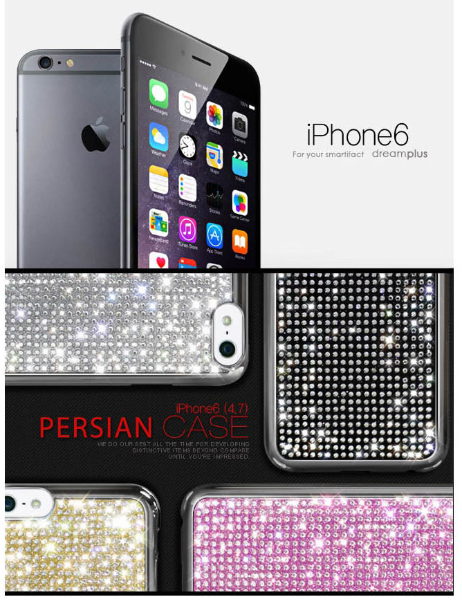 Dreamplus : Persian Crystal Cubic Hard Case Cover for Apple iPhone 6 (4.7inch)