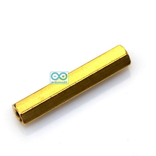 Pillars Nut M3 น็อตตัวเมีย ทองเหลืองแบบยาว 25mm