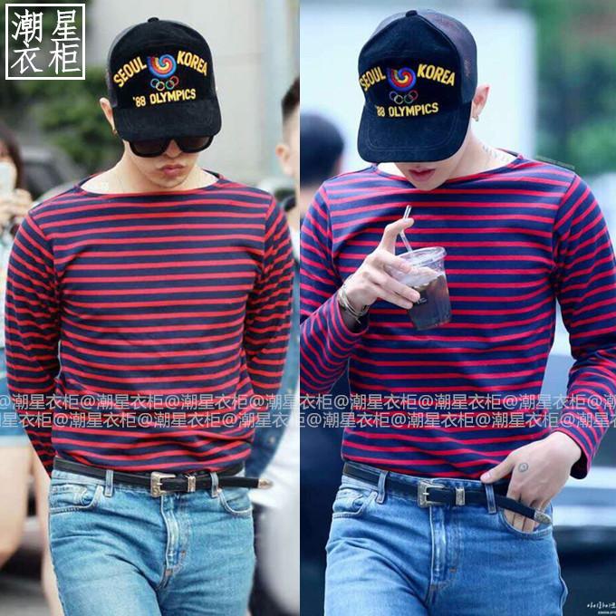 เสื้อแขนยาว G-Dragon Loser mv Red-black -ระบุไซต์-