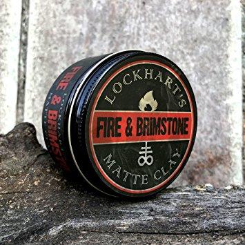 Lockhart's Fire n' Brimstone Matte Clay (Water Based) ขนาด 3.7 oz.