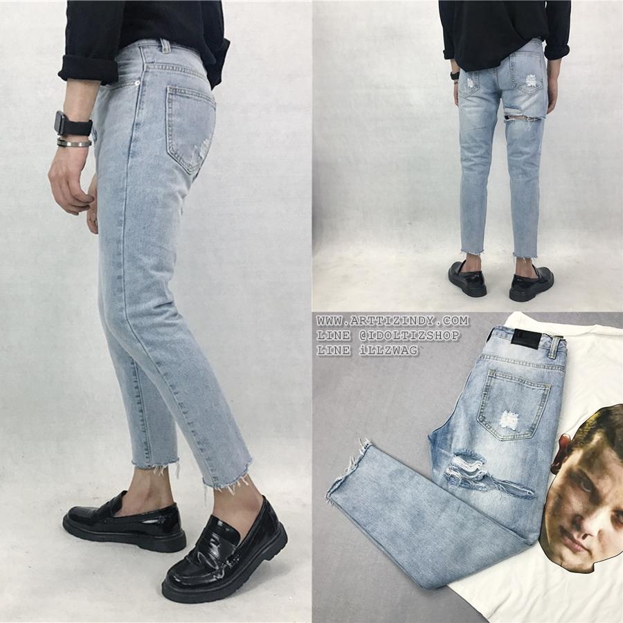 กางเกงยีนส์ Sty.Ulzzang [DENIM-10] -ระบุไซต์-