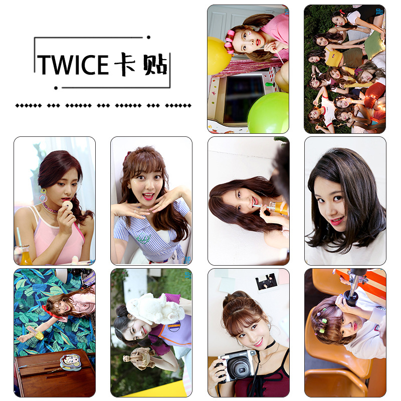 Sticker Card set TWICE - LIKEY (KT964)