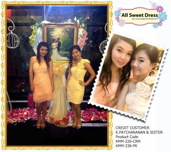 สองพี่น้อง Snow Berry ในวันงานค่ะสวมใส่ชุดราตรีเดรสสั้นสีสวยหวาน สดใส น่ารักสวยแบบสมวัยกันเลย Credit customer K.patcharanan