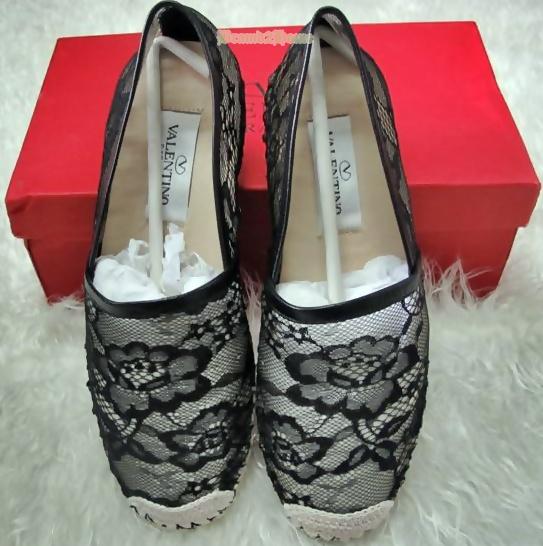 Valentino Lace flat shoes เป๊ะที่สุด สีดำ size 40