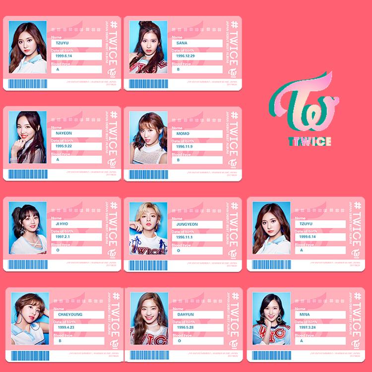 Sticker Card Twice School (all member)