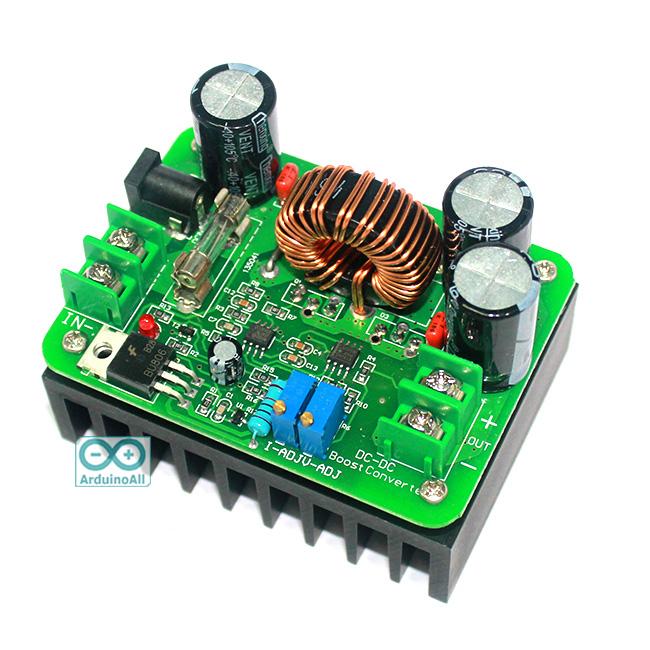 Step Up power boost module 12V ~ 60V to 12V ~ 80V 600W โมดูลแปลงไฟขึ้น 12-60V เป็น 12-80V กำลังสูงสุด 600a