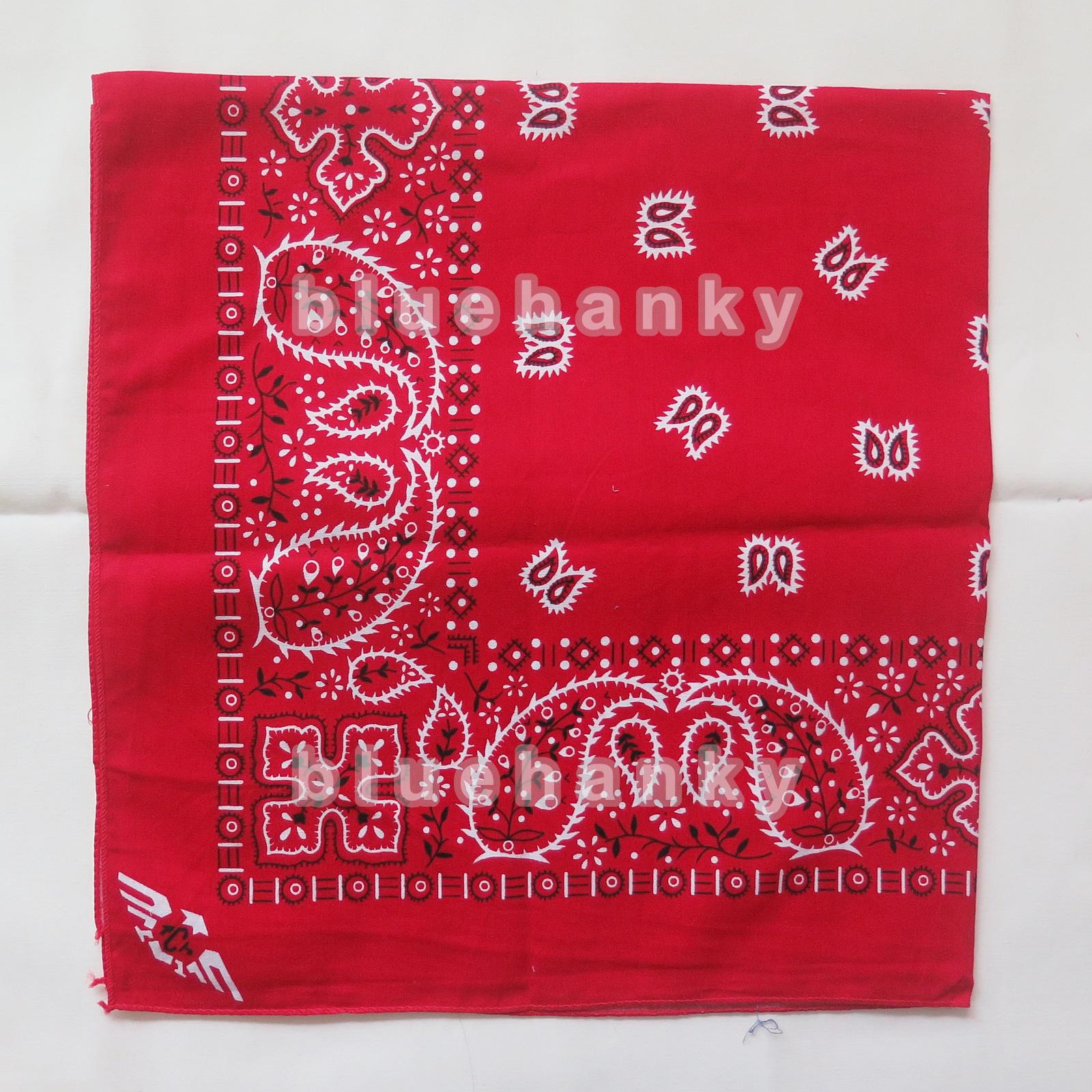 ผ้าพันคอBandannasไซส์บิ๊ก 28นิ้ว สีแดง