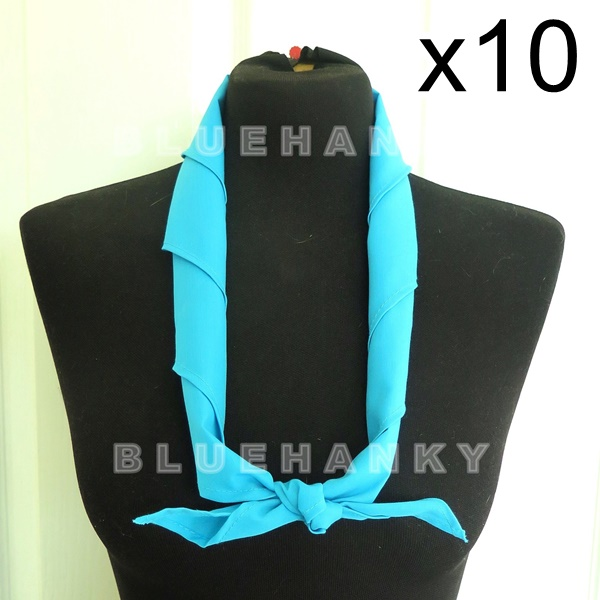 10ผืน สีฟ้า สามเหลี่ยม100ซม ลูกเสือ