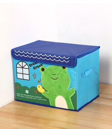 กล่องอเนกประสงค์ลายการ์ตูนกบขนาดใหญ่จัดระเบียบตกแต่งบ้าน รูปทรงสวยงาม