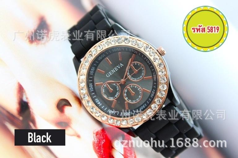 5819-นาฬิกาแฟชั่น สีดำ