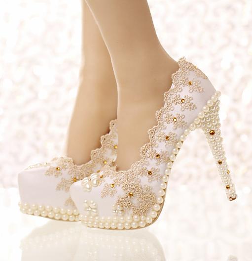 รองเท้าเจ้าสาว ไซต์ 34-39 ส้นสูง 5,7,9,10,12,14 ซม.