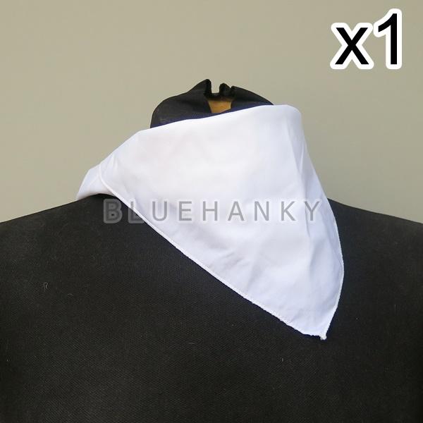 สีขาว สี่เหลี่ยม53ซม ผ้าพันคอกีฬาสี ผ้าเช็ดหน้าผืนใหญ่