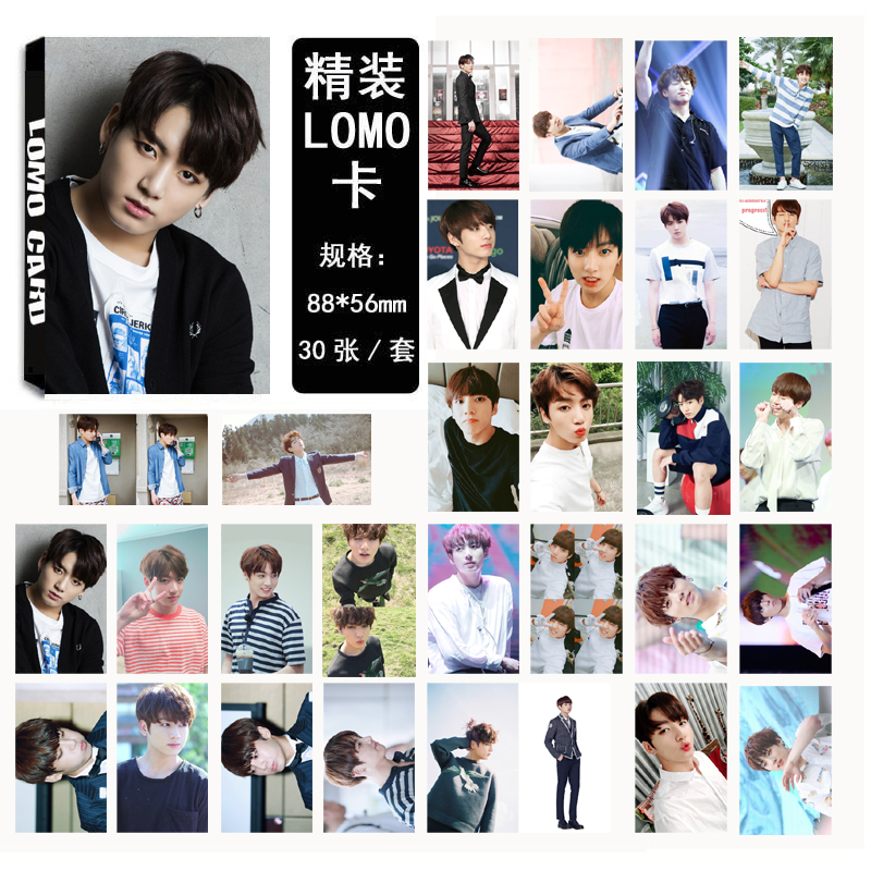 Lomo card set 02 BTS - JUNGKOOK (30pc)