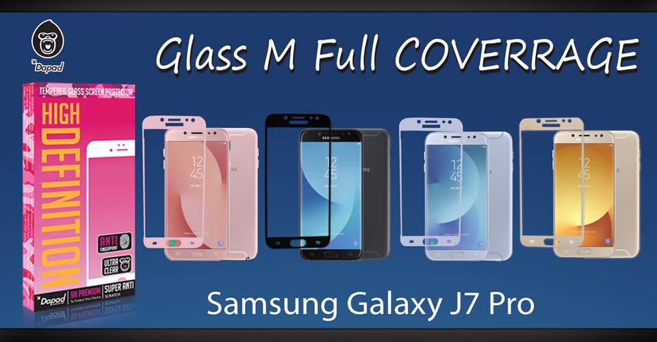 Samsung J7 Pro (เต็มจอ) - กระจกนิรภัย FULL FRAME Dapad แท้ (ดีที่สุดในตอนนี้!!)
