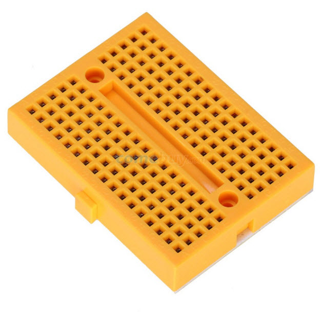 SYB-170 breadboard YELLOW mini small bread plate (170 hole)