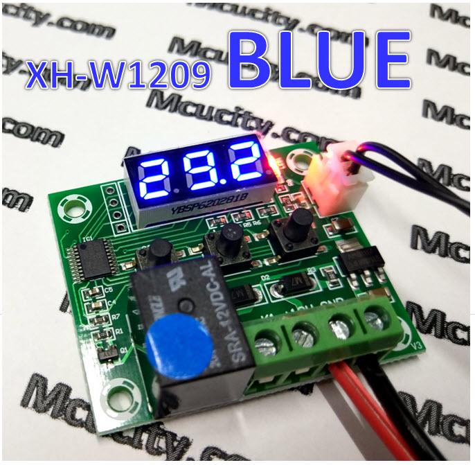 BLUE XH-W1209 [STM8S003F3P6] (ของแท้) Digital Cool/Heat บอร์ดควบคุม เปิด/ปิด ตามอุณหภูมิ