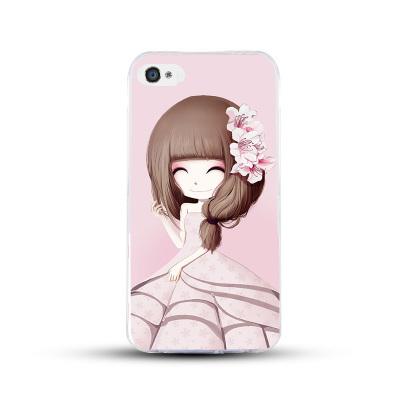 เคสไอโฟน 5/5s/SE (เคสนิ่มคลุมรอบเครื่อง) สาวเกาหลีน่ารัก แบบ 15