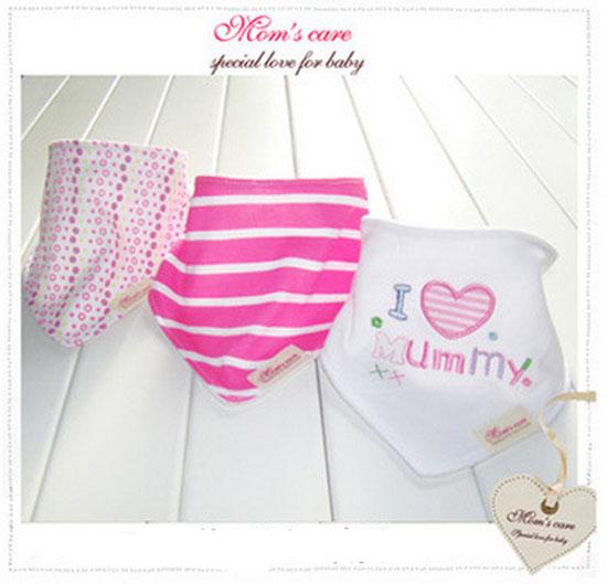 ผ้ากันเปื้อนเด็ก L Love mommy
