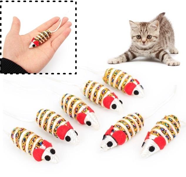 ของเล่นแมว หนูเชือก (10 ชิ้น 140.-)