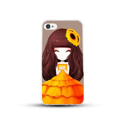 เคสไอโฟน 5/5s/SE (เคสนิ่มคลุมรอบเครื่อง) สาวเกาหลีน่ารัก แบบ 10