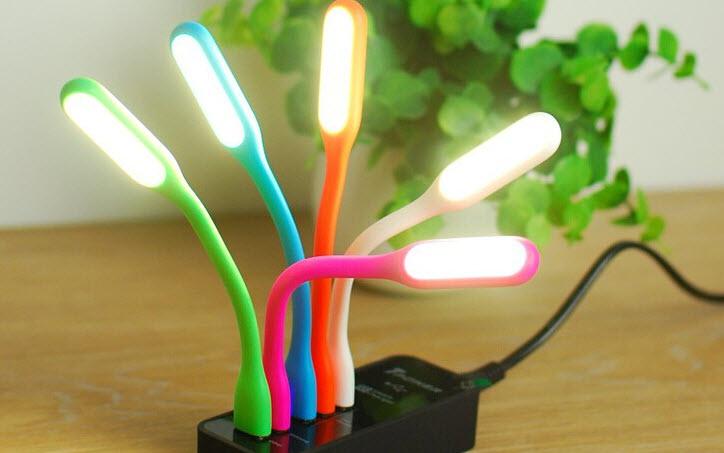 LED Light USB LED Gadget Portable Bendable Mini Lamp USB Powered Plug