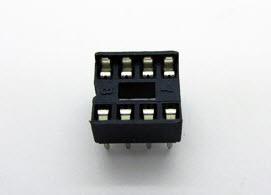 DIP8 (Socket Dip Solder Type 8 Pins, Pitch 2.54mm)